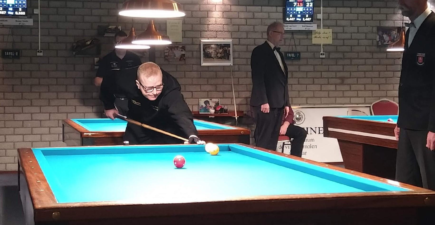 Anton in actie tijdens de finale in Alkmaar